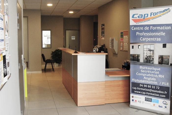 Bienvenue chez Cap Formation à Carpentras, proche d'Avignon : Centre de formation professionnelle continue, spécialisé dans les formations du secteur tertiaire.